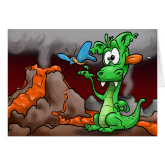 Dragon and Butterfly Greeting Card