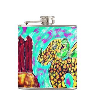 Dragon and Garnet Hip Flask