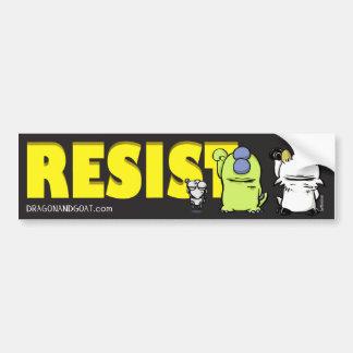 Dragon and Goat Resist Bumper Sticker