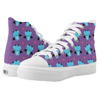 Dragon and Hearts High Tops