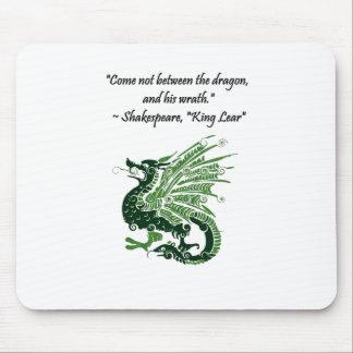 Dragon and His Wrath Shakespeare King Lear Cartoon Mousepad