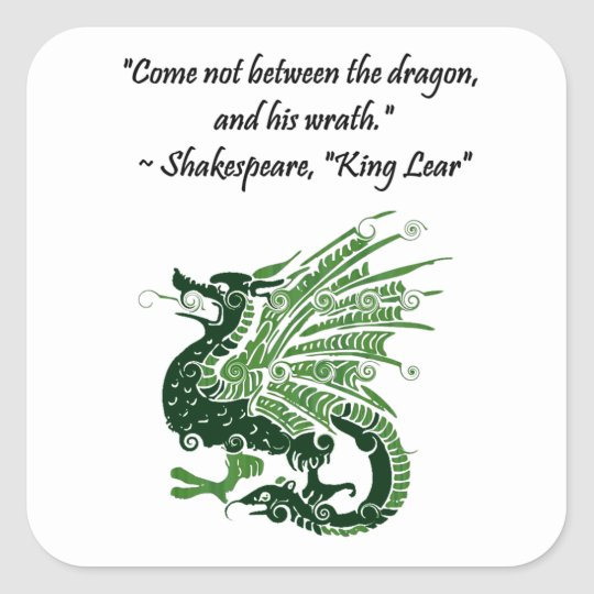 Dragon and His Wrath Shakespeare King Lear Cartoon