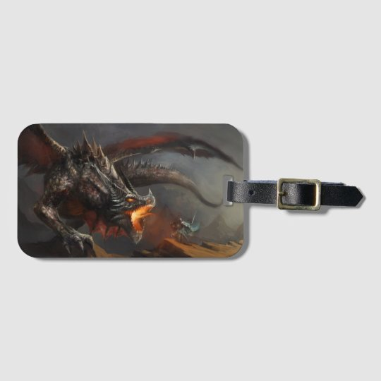 Dragon and Knight Luggage Tag