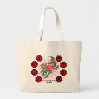 dragon and phoenix large tote bag