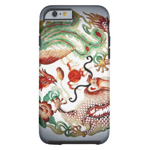 Dragon and phoenix stencil iPhone 6 case