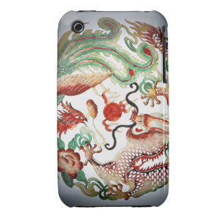 Dragon and phoenix stencil Case-Mate iPhone 3 cases