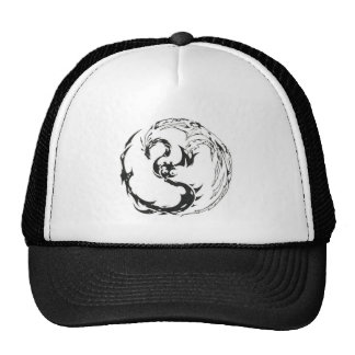 Dragon and Phoenix Ying Yang Mesh Hat