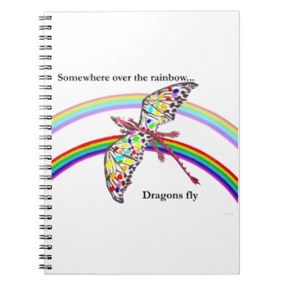 Dragon and Rainbow Spiral Notebook