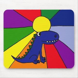 Dragon and Rainbow Sun Mousepad