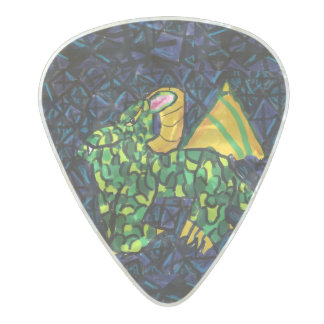 Dragon and Sapphire Pearl Celluloid Guitar Pick