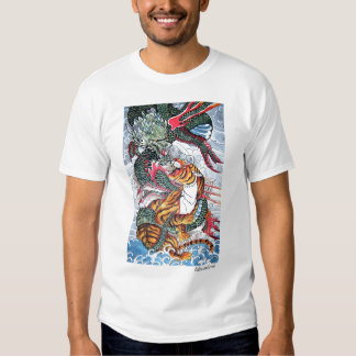Dragon and tiger t shirt