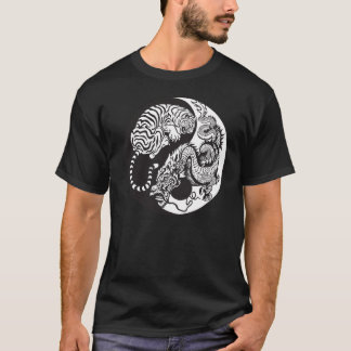 dragon and tiger yin and yang symbol T-Shirt