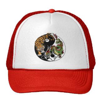 dragon and tiger yin yang cap