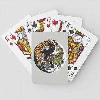 dragon and tiger yin yang playing cards