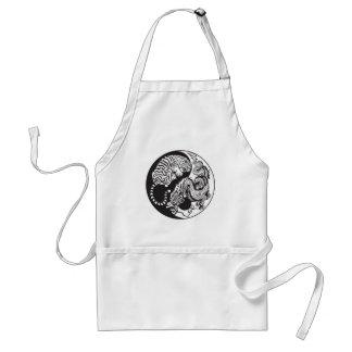 dragon and tiger yin yang symbol standard apron