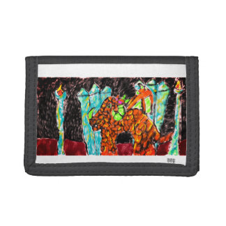 Dragon and Turquoise Tri-fold Wallet