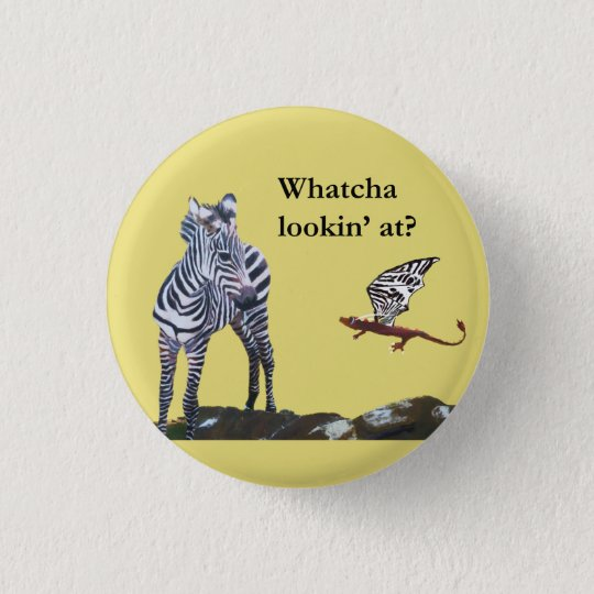 Dragon and Zebra 3 Cm Round Badge