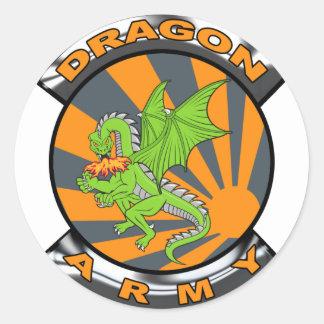 Dragon Army Gear Round Sticker