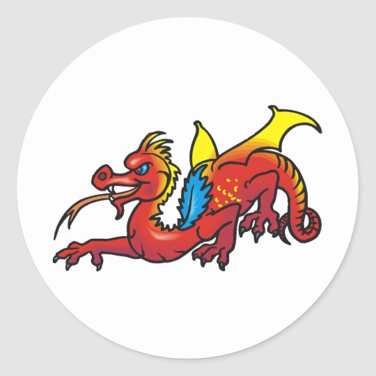 Dragon Art 50 Classic Round Sticker