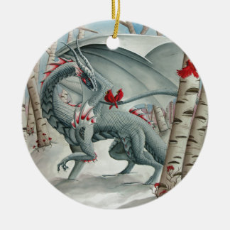 Dragon art, Fantasy art, Lady of the Forest Christmas Ornament
