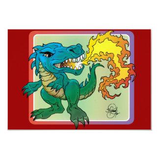 Dragon Art inspired by little t by Scott Rosema 9 Cm X 13 Cm Invitation Card