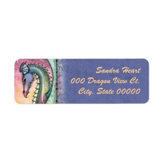 Dragon at Dusk Fantasy Art Return Address Label