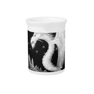 Dragon at Night Painting Beverage Pitcher