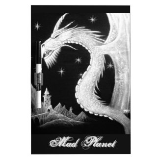 Dragon at Night Painting Dry Erase Board