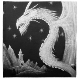 Dragon at Night Painting Napkin