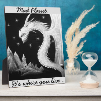 Dragon at Night Painting Photo Plaques