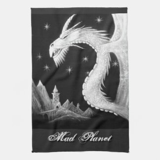 Dragon at Night Painting Towel