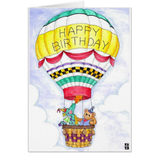 Dragon Balloon Birthday Card