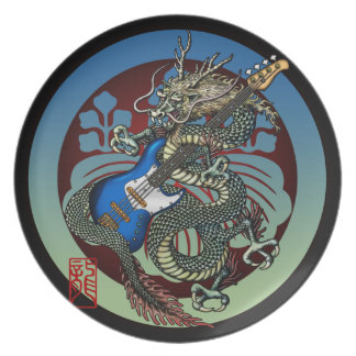 Dragon Bass 04 Dinner Plate