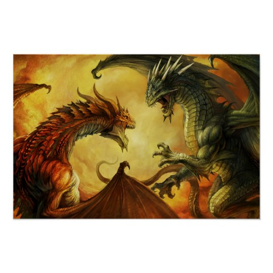 Dragon Battle, Large Poster