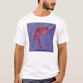 Dragon Beads Denim Embroidery Print T-Shirt