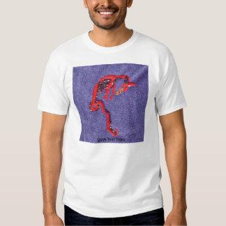 Dragon Beads Denim Embroidery Print Tees