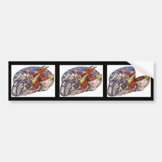 Dragon Biker Bumper Sticker