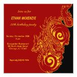 Dragon Birthday 13 Cm X 13 Cm Square Invitation Card