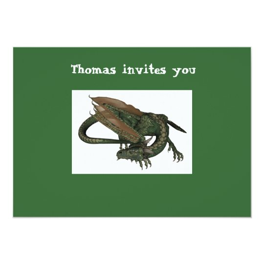 Dragon Birthday Invitation