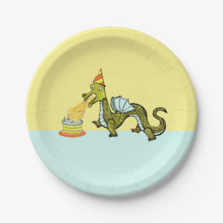 dragon birthday party paper plate