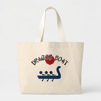 Dragon Boat Fully Customizable Design Large Tote Bag