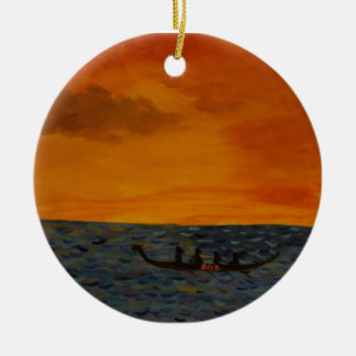 Dragon Boat Race Christmas Ornament