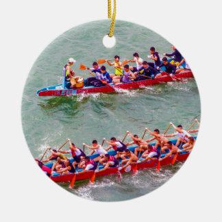 Dragon Boats Christmas Ornament