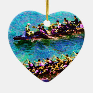 Dragon Boats e2 Ceramic Heart Decoration