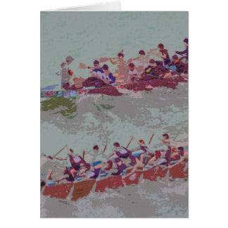 Dragon Boats e4 Greeting Card