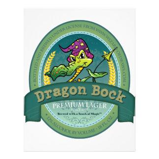 Dragon Bock Beer Label Flyers