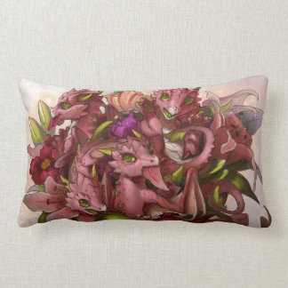 Dragon Bouquet Throw Pillow
