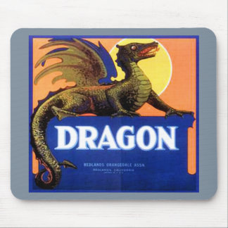 Dragon Brand Fruit Crate Label Mousepad