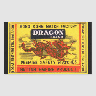 Dragon Brand Vintage Safety Match Label