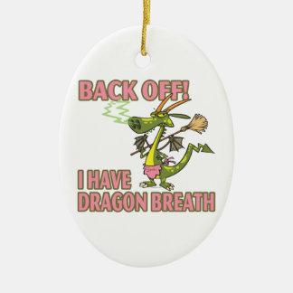 dragon breath funny cartoon female christmas ornament